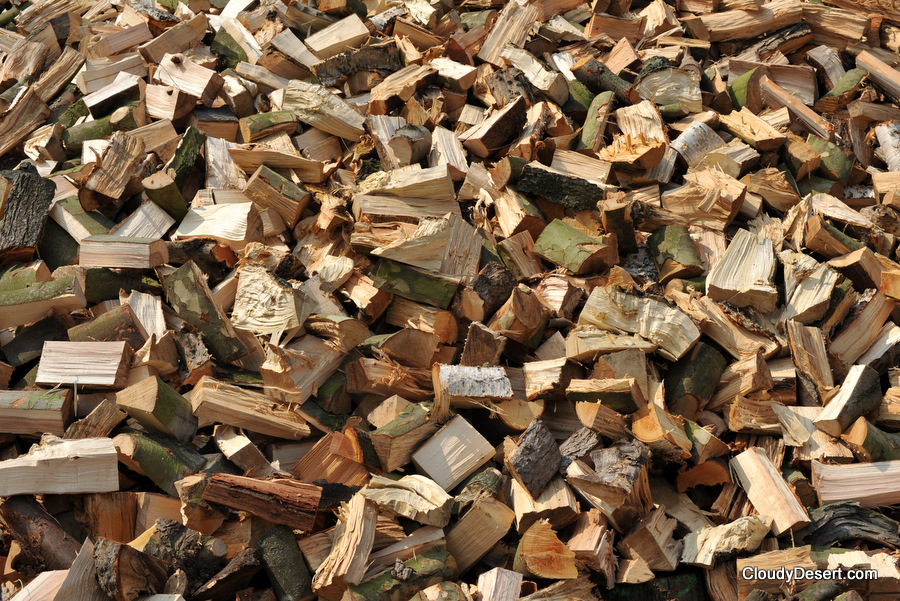 A pile of firewood