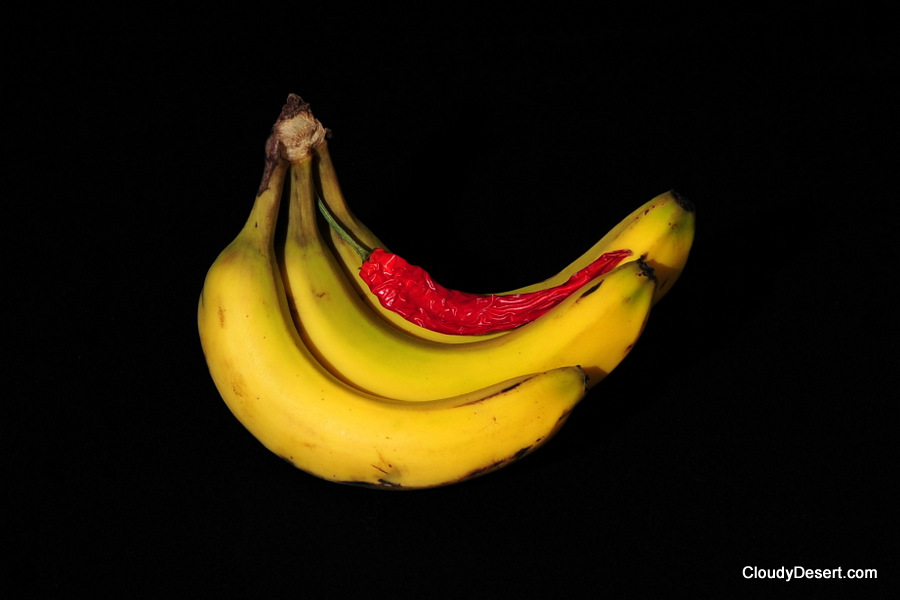 Bananas and a chilli