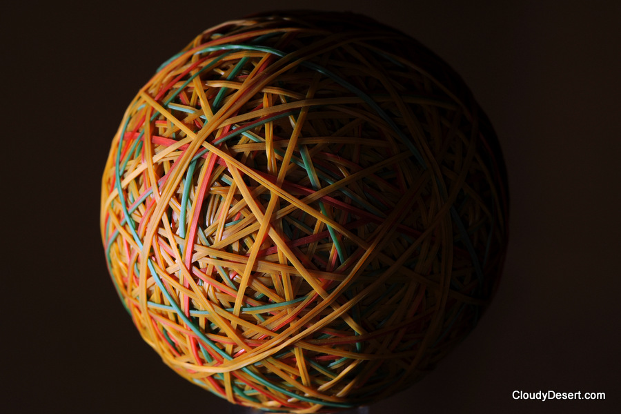 The rubber band ball