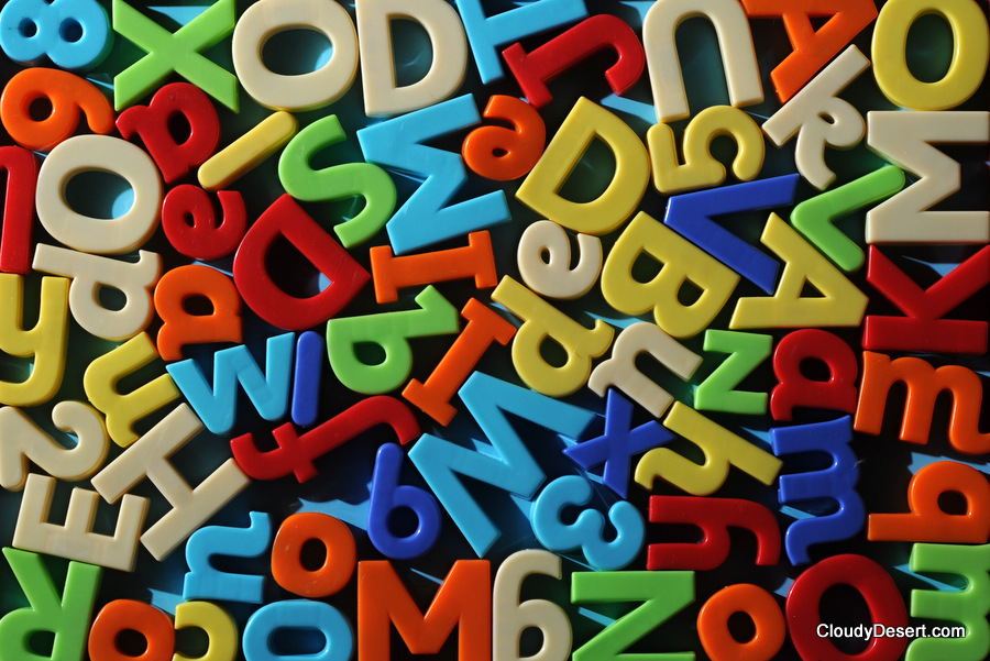 numbers and letters of the alphabet