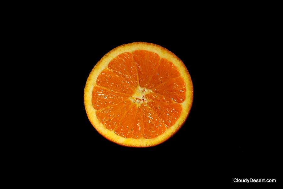 An orange orange