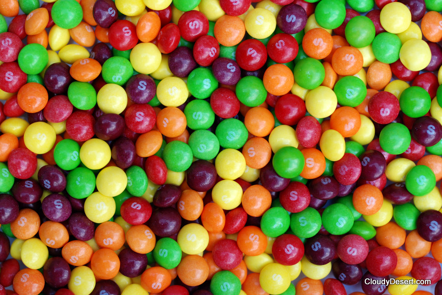 A load of skittles just sitting there