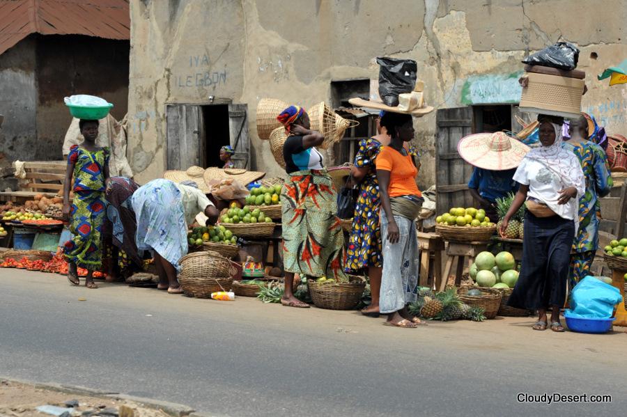 Road side shopping, Ibadan, Nigeria